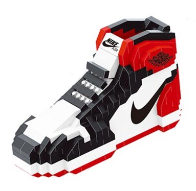 JEU DE BRIQUES - AIR JORDAN 1 BLACK TOE - Sneakers Dealers-Paris