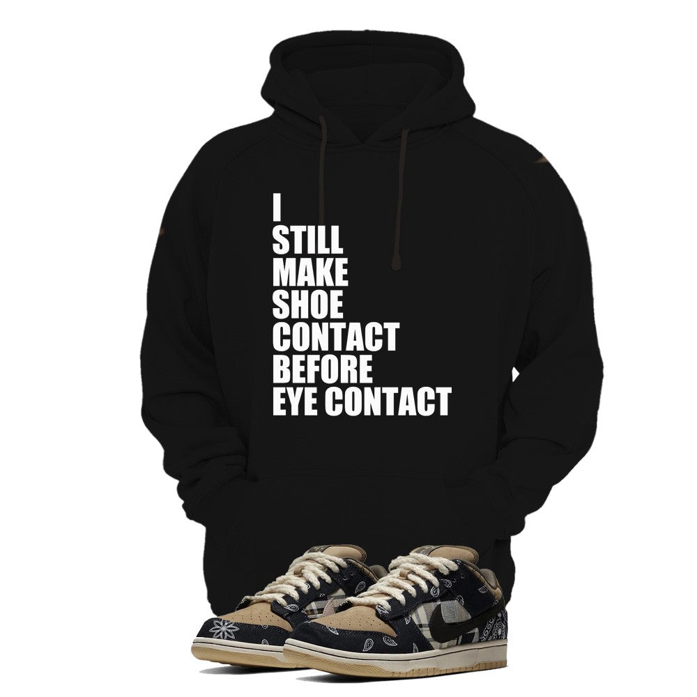 Print Hoodie (Black) - Shoe Contact - Sneakers Dealers-Paris