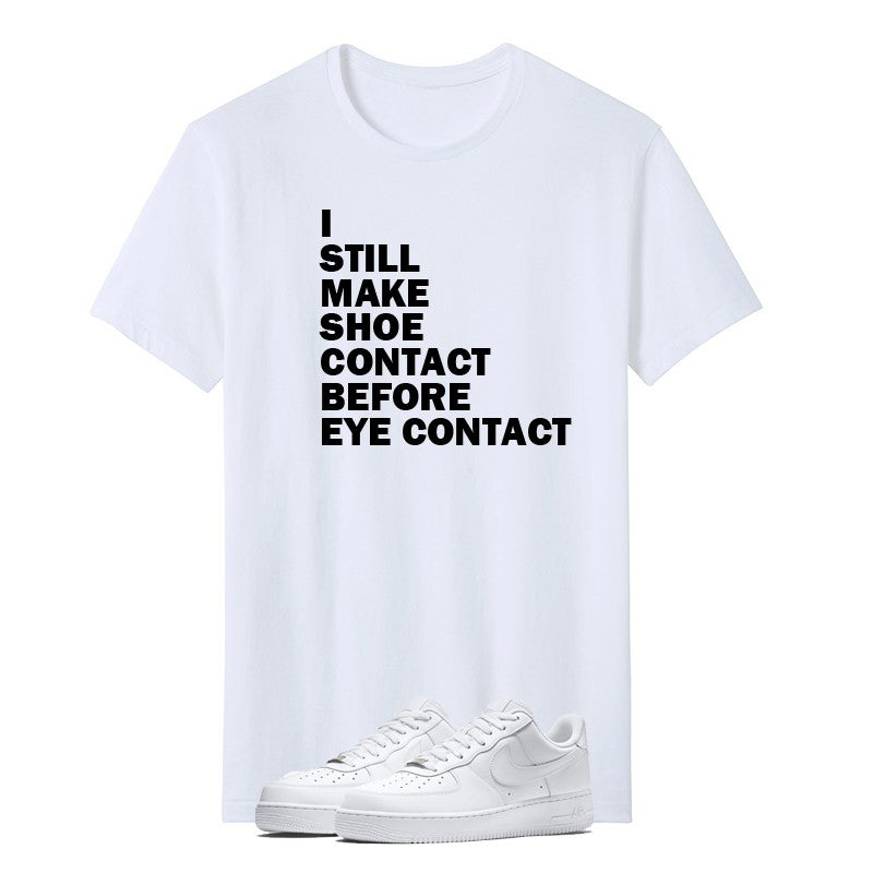 PRINT TSHIRT (WHITE) - SHOE CONTACT