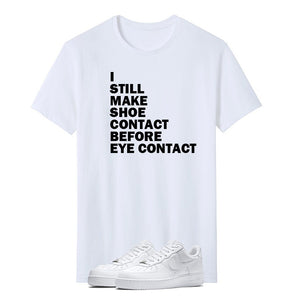 PRINT TSHIRT (WHITE) - SHOE CONTACT - Sneakers Dealers-Paris