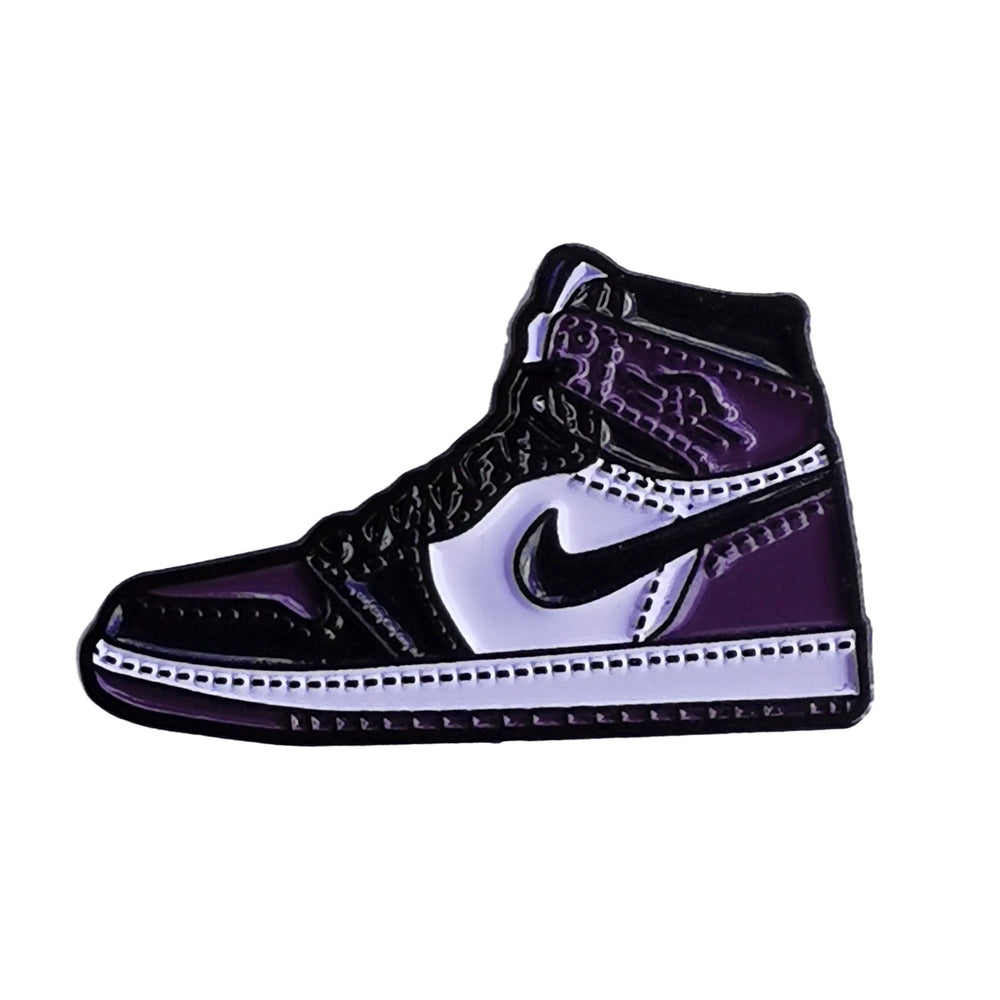 Pin's Design - Jordan 1 court purple black - Sneakers Dealers-Paris