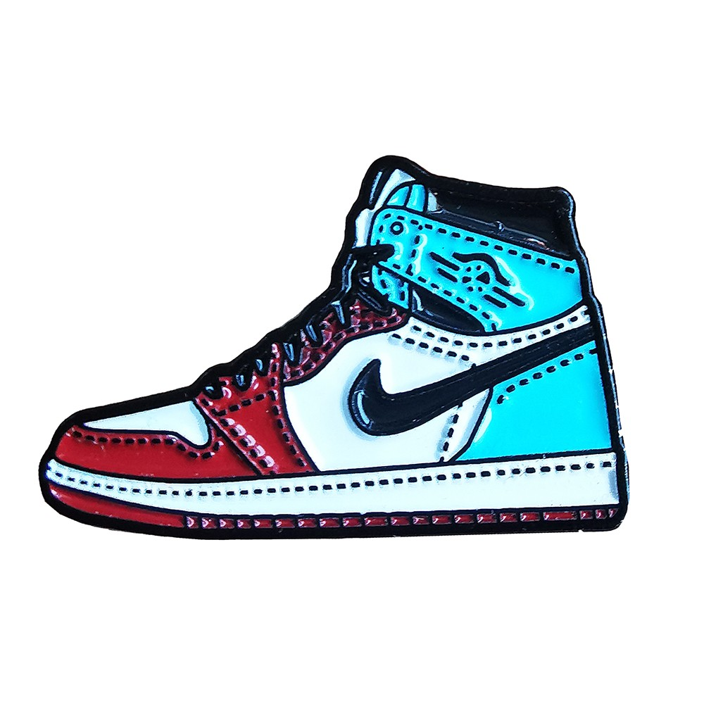 Pin's Design - Jordan 1 Fearless UNC Chicago