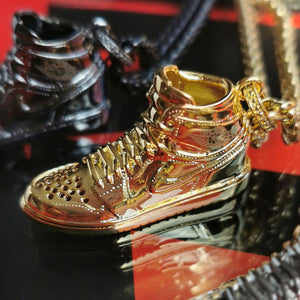 Collier Titane AIR JORDAN 1 - Gold - Sneakers Dealers-Paris