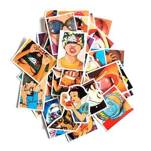 Pack 45 Stickers - Sexy Girls