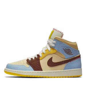 "Air Jordan 1 Mid Fearless ""Maison Chateau Rouge"" - Sneakers Dealers-Paris"
