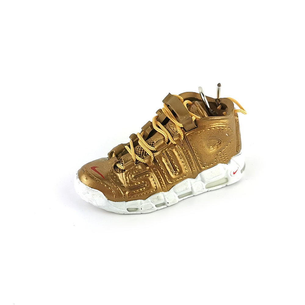 Mini Sneakers - Air More Uptempo Supreme  Gold