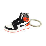"Mini Sneakers Keychain - ""Jordan 1 Retro Black Toe"" 3D"