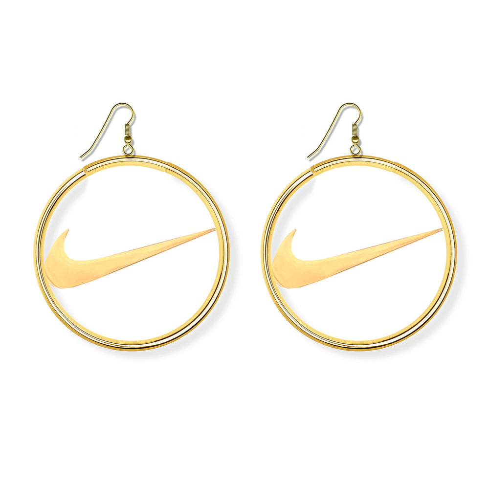 Boucle d'oreilles créole Nike - Gold color - Sneakers Dealers-Paris