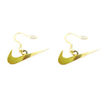 Boucle d'oreilles swoosh logo 3cm - Gold color - Sneakers Dealers-Paris