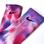 Chaussettes Nike Custom - Tye Die Purple Rain - Sneakers Dealers-Paris
