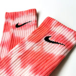 Chaussettes Nike Custom - Tye Die Pink/White - Sneakers Dealers-Paris