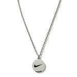 Collier Pendentif NIke rond gris metallic - Sneakers Dealers-Paris