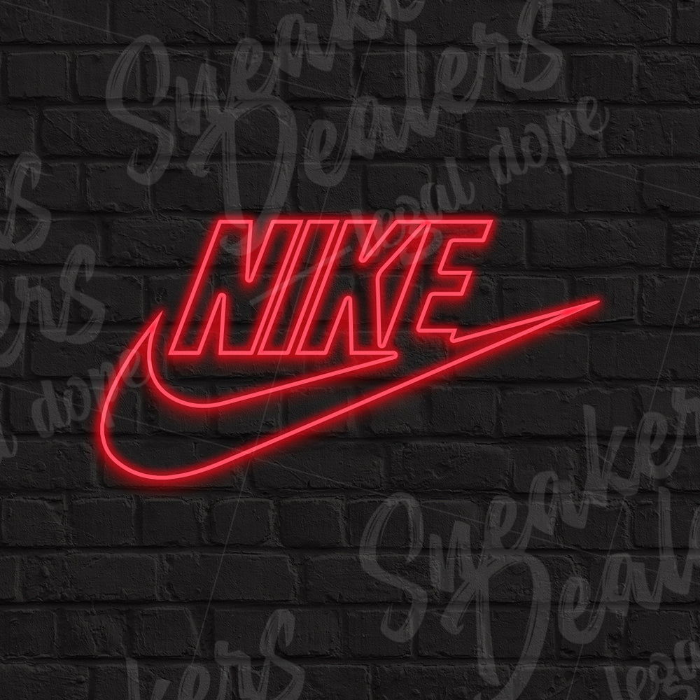 Néon LED - NIKE logo rouge - Sneakers Dealers-Paris