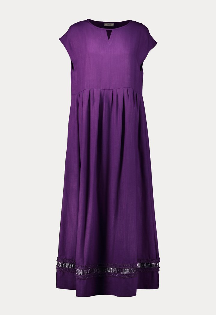 Choice Sleeveless Linen Maxi Dress Lilac - Wardrobe Fashion