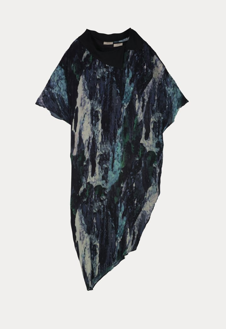 Choice Camouflage Print Pleated Dress Combo Camouflage