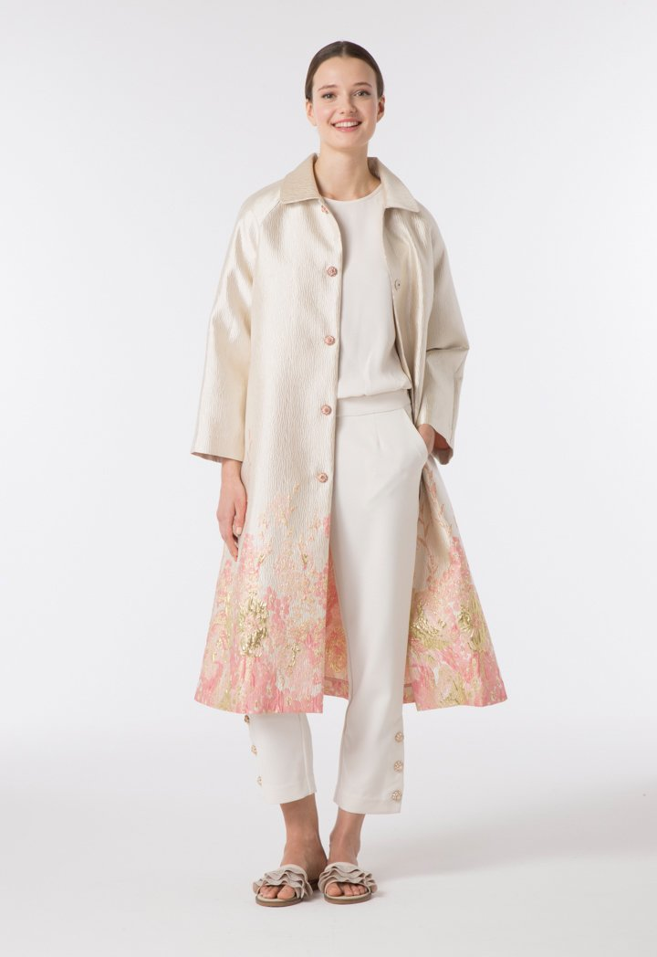 Choice Brocade Outer Coat Multicolor