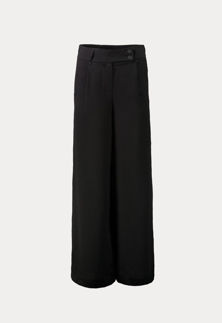 Kameya High Waist Wide Leg Trouser Black
