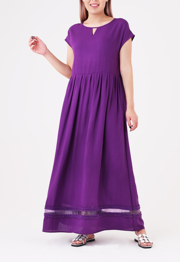 Choice Sleeveless Linen Maxi Dress Lilac