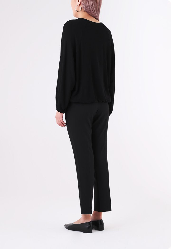 BERRIN Sequin Long Sleeve Sweater BLACK