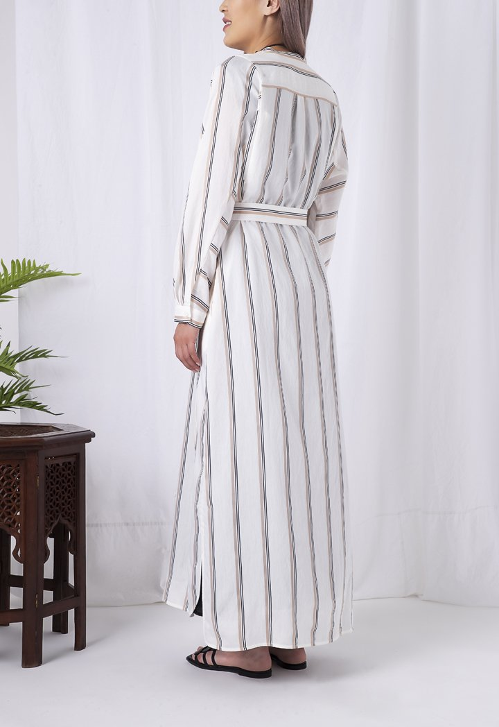 Choice Chinese Stripes Dress Multicolor - Wardrobe Fashion