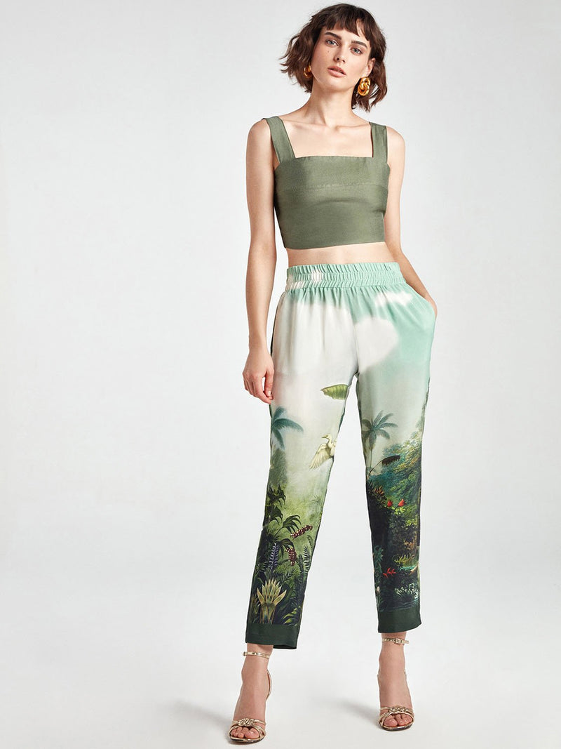 Nocturne Trouser Printed Multi Color - Wardrobe Fashion