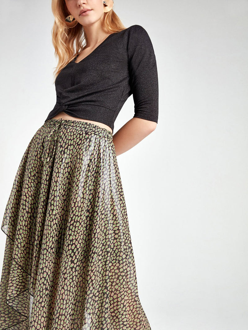 Nocturne Skirt Print Layered Multi Color - Wardrobe Fashion