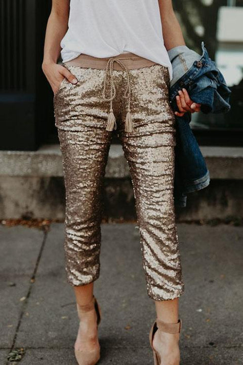 Irisdress Fancy Sequin Casual Pants