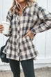 Irisdress Vintage Button Long Sleeve Plaid Shirt