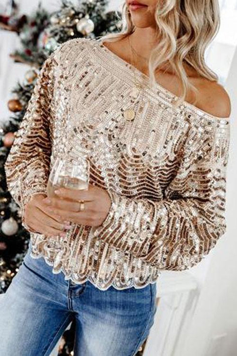 Irisdress Mermaid Off Shoulder Sequin Top