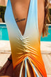 Irisdress  Gradient Multicolor Backlesss One-Piece Swimwear