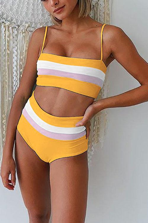 Irisdress Striped Printed Two Pieces Bikini Swimwear