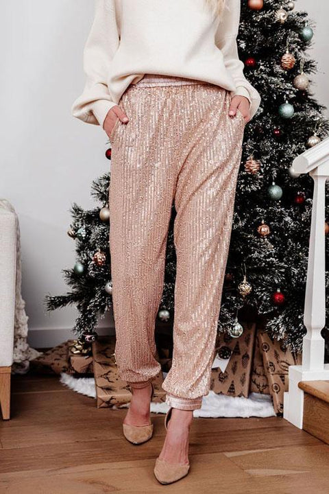 Irisdress Xmas Casual Style Sequin Pants