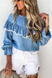 Irisdress Flared Sleeve Lace Loose Blouse Top