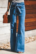Irisdress Knot Wide Leg Jeans