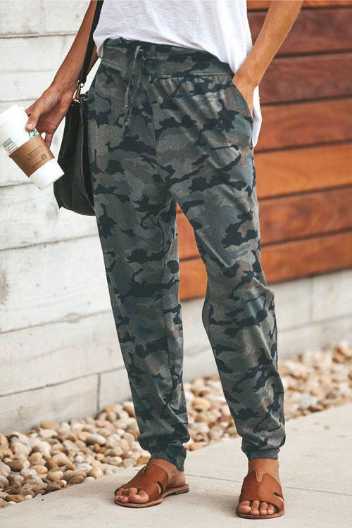 Irisdress Casual Style Camo Pants