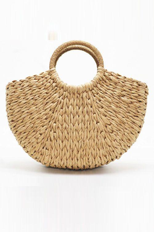 Irisdress Woven Straw Beach Tote
