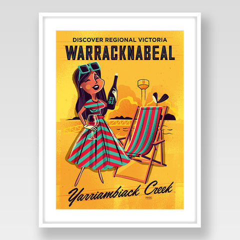 Warracknabeal Print Gold