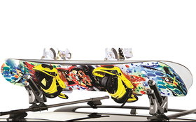 Angle Mounted Snowboard Carrier
