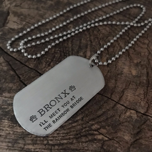 Hand-stamped Stainless Steel Dog Tag