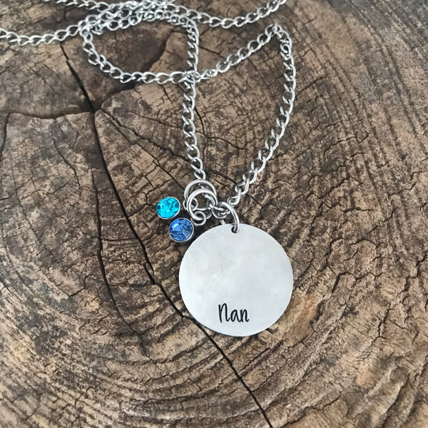 Hand-stamped Stainless Steel Necklace