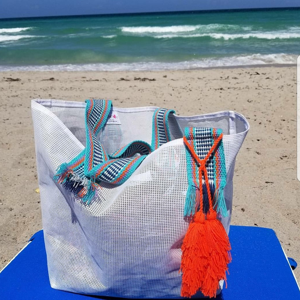 Corinne Mesh Beach Bag | 2 color options