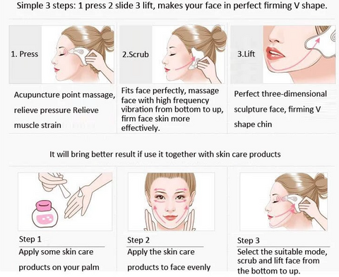 DoveTail Heated Facial Massage Tool Instructions