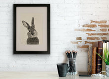 Load image into Gallery viewer, Bunny Hand Drawn Framed Print