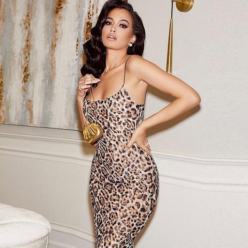 Can't Be Tamed Leopard Maxi Dress
