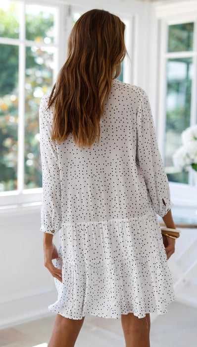 Spring Flings Polka Dot Mini Dress