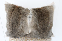 Load image into Gallery viewer, Rabbit fur cushion riverstone