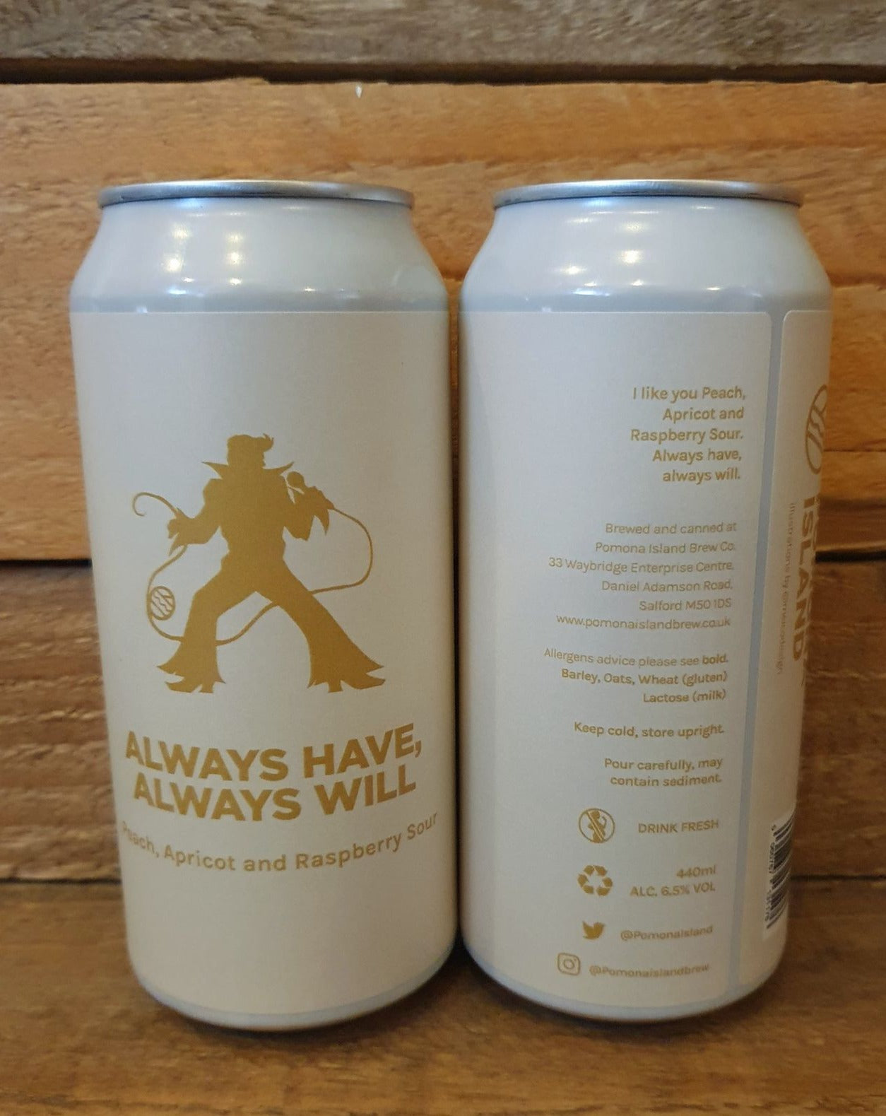 Pomona Island - Always Have, Always Will Peach, Apricot and Raspberry Sour 6.5% 440ml