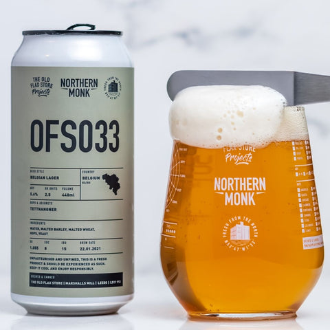 Northern Monk - OFS033 Belgian Lager 5.6% 440ml