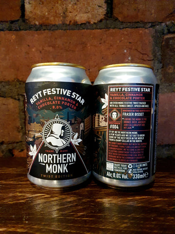 Northern Monk - Reyt Festive Star Porter 8% 330ml