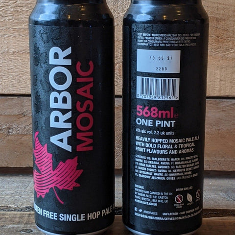 Arbor - Mosaic Single Hop Pale GF 4% 568ml